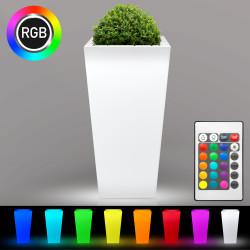 FLAMINGO Blumentopf Leuchte | LED RGB | 400x800mm | Akku | Beleuchteter Pflanztopf Blumenkübel Pflanzkübel Übertopf Kübel Lampe Gartentopf Gartenkübel