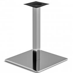 MADRID | Bistro Tisch Gestell | 50x50cm | 6x60cm | Edelstahl  | Fuß Bein Säule Quadratisch