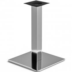 MADRID | Bistro Tisch Gestell | 45x45cm | 8x60cm | Edelstahl  | Fuß Bein Säule Quadratisch