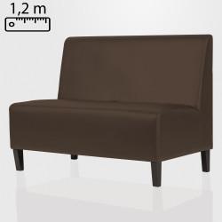 MIAMI Gastro Sitzbank B120xH120cm | Braun | Glatt  | Bistro Bank Hoch Lounge Polster Restaurant Diner Möbel Bar Sitzmöbel