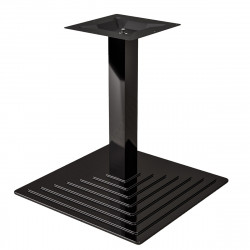 PYRAMIDE | Bistro Lounge Tisch Gestell | Klappbar | 45x45cm | 8x50cm | Schwarz  | Fuß Bein Säule Quadratisch