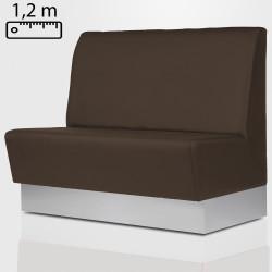 DALLAS Gastro Sitzbank B120xH120cm | Braun | Glatt  | Bistro Bank Hoch Lounge Polster Restaurant Diner Möbel Bar Sitzmöbel