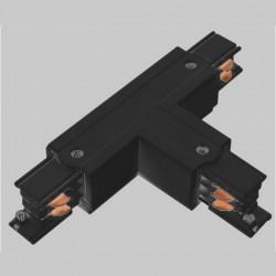 Aufbau T. Verbinder mit Einspeiser | 110V - 415V | Schwarz | 3 Phasen | Hochvolt  | Mittel Einspeisung Einspeiser Verbinder | Schutzleiter Universal Links & Rechts | Schienensystem Stromschiene Schiene