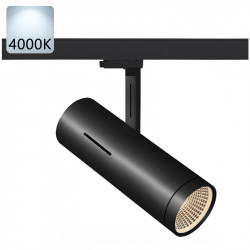 LED track spotlight | 20 W | 4000 K | Black | 3 phases | High voltage | Track system . 3-phase spot . Track-mounted spotlight . Track-mounted spot . 3-phase spotlight . 3-phase lamp . 3-phase lamp . Track spotlight . Track spot . Track light . Track lamp