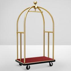 HILTON Hotelgepäckwagen | Gold | max: 300kg  | Gepäckwagen Hotelwagen Kofferwagen