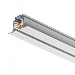 Flush-mounted busbar 1000mm | 110 V - 415 V | White | 3 phases | High voltage | Flush-mounted track . Fitted busbar . Wing rail . 3-phase track . 3-phase busbar . High-voltage track . High-voltage busbar | Track system . Track-mounted spotlight . Track-m