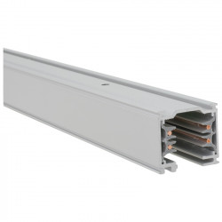 Surface-mounted busbar 1000 mm | 110 V - 415 V | Light grey | 3 phases | High voltage | Track system . Surface-mounted track . Surface-mounted busbar . 3-phase track . 3-phase busbar . High-voltage track . High-voltage busbar | Track-mounted spotlight . T