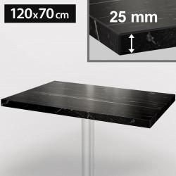 ITALIA Bistro Tischplatte   120x70cm   Schwarz Marmor   Holz   Gastro Restaurant Holztischplatte Tisch Gastronomie Stehtisch Möbel