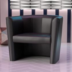 LUIS SMALL Bistro Clubsessel | Leder | Schwarz | Sessel Bistro Gastro Hotel Restaurant Lounge Cocktail Disco
