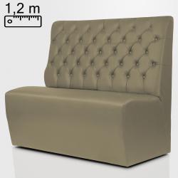 TEXAS Gastro Sitzbank B120xH120cm | Taupe | Chesterfield  | Bistro Bank Hoch Lounge Polster Restaurant Diner Möbel Bar Sitzmöbel