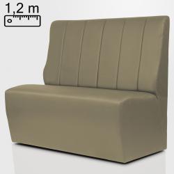 (Ausverkauf) TEXAS Gastro Sitzbank B120xH120cm | Taupe | Gestreift  | Bistro Hoch Bank Lounge Polster Restaurant Diner Möbel Bar Sitzmöbel