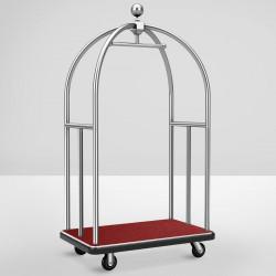 HILTON Hotelgepäckwagen | Chrom | max: 300kg  | Gepäckwagen Hotelwagen Kofferwagen