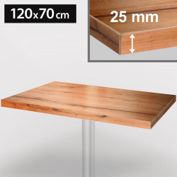 ITALIA Bistro Tischplatte | 120x70cm | Eiche | Holz | Gastro Restaurant Holztischplatte Tisch Gastronomie Stehtisch Möbel