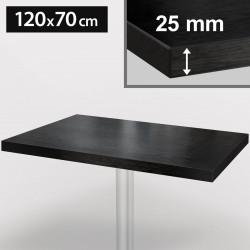 ITALIA Bistro Tischplatte | 120x70cm | Schwarz | Holz | Gastro Restaurant Holztischplatte Tisch Gastronomie Stehtisch Möbel