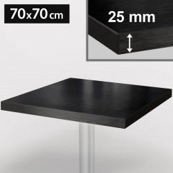 ITALIA Bistro Tischplatte | 70x70cm | Schwarz | Holz | Gastro Restaurant Holztischplatte Tisch Gastronomie Stehtisch Möbel