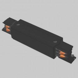 Aufbau - Längsverbinder mit Einspeiser | 110V - 415V | Schwarz | 3 Phasen | Hochvolt  | Mittel Einspeisung Einspeiser Verbinder | Schutzleiter Universal Links & Rechts | Schienensystem Stromschiene Schiene