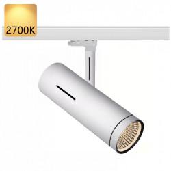 SYDNEY Stromschiene Strahler LED   20W   2700K   Weiß   3 Phasen - Schienensystem   Hochvolt    Spot Stromschienen Schienen Lampe Leuchte Lichtschiene Schaufensterbeleuchtung Laden Shop Beleuchtung
