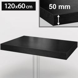 Bistro Tischplatte | 120x60cm | Schwarz | Holz  | Gastro Restaurant Holzplatte Tisch Gastronomie Stehtisch Möbel