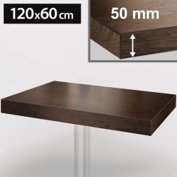 Bistro Tischplatte | 120x60cm | Walnuß | Holz  | Gastro Restaurant Holzplatte Tisch Gastronomie Stehtisch Möbel