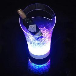 TROPIC Sektkühler   2x0,75 Liter   LED   Eiskübel Eiseimer Flaschenkühler Eiswürfelbehälter Eisbehälter Weinkühler Champagnerkühler Eisbox Champagnerschale