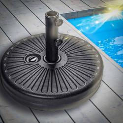 BORA Sonnenschirmständer | Ø51cm | Schwarz | 22kg-30kg  | Schirm Fuß Ampel Ampelschirm Sonnenschirmfuß