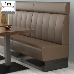 (NEW) Denver Gastro Bank | B100xH128cm | Braun | Gestreift  | Bistro Sitzbank Lounge Polster Restaurant