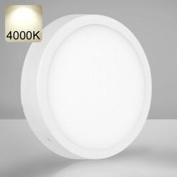 EMPIRE   LED Panel   Aufbau   Ø300mm   24W   4000K   Neutral Weiß   Rund Aufputz Leuchte Lampe
