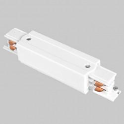 Aufbau - Längsverbinder mit Einspeiser   110V - 415V   Weiß   3 Phasen   Hochvolt    Mittel Einspeisung Einspeiser Verbinder   Schutzleiter Universal Links & Rechts   Schienensystem Stromschiene Schiene