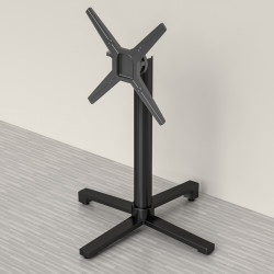 Gastro Bistro table pillar  ~ 4 foots ~ height 72 cm ~ foldable ~ black ~ table support