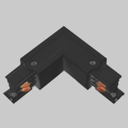Einbau L. Verbinder mit Einspeiser | 110V - 415V | Schwarz | 3 Phasen | Hochvolt  | Mittel Einspeisung Einspeiser Verbinder | Schutzleiter Universal Links & Rechts | Schienensystem Stromschiene Schiene Flügel