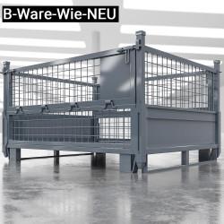 (B-Ware-Wie-NEU) EURO | Gitter Box B125xT100xH85cm | Klappbar | Anthrazit  | DB Lager Industrie