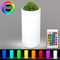 LOTUS Blumentopf Leuchte | LED RGB | Ø400xH1160mm | Akku | Beleuchteter Pflanztopf Blumenkübel Pflanzkübel Übertopf Kübel Lampe Gartentopf Gartenkübel