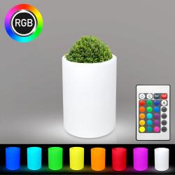 LOTUS Blumentopf Leuchte | LED RGB | Ø400xH800mm | Akku | Beleuchteter Pflanzkübel Blumenkübel Pflanztopf Übertopf Kübel Lampe Gartentopf Gartenkübel