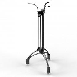 MALAGA | Bistro Steh Tisch Gestell | 3 Fuß | Ø60cm | H108cm | Guss Optik | Schwarz  | Eisen Bar Terrassen Outdoor Bein Säule Außen