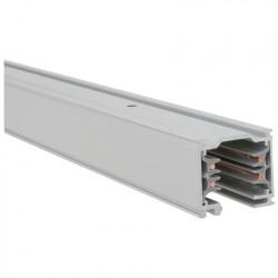 Aufbau - Stromschiene 1000mm | 110V - 415V | Hell Grau | 3 Phasen | Hochvolt  | Schienensystem Schiene Strahler Stromschienenstrahler Spot Lampe Leuchte