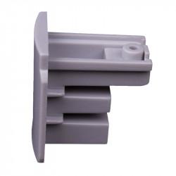 Endkappe | Hell Grau | 3 Phasen | Hochvolt  | Universal für Aufbau & Einbau | Schienensystem Stromschiene Schiene