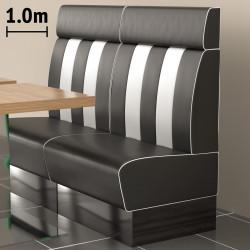 (NEW) American 2 | Gastro Bank | B100xH128cm | Schwarz & Weiß  | Diner Bistro Sitzbank Lounge Polster Restaurant