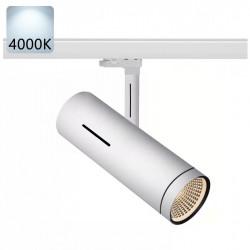 SYDNEY Stromschiene Strahler LED   40W   4000K   Weiß   3 Phasen - Schienensystem   Hochvolt    Spot Stromschienen Schienen Lampe Leuchte Lichtschiene Schaufensterbeleuchtung Laden Shop Beleuchtung