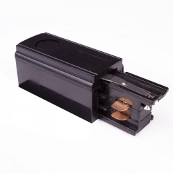 Aufbau Einspeiser   110V - 415V   Schwarz   3 Phasen   Hochvolt    Schutzleiter Universal Links & Rechts   Schienensystem Stromschiene Schiene