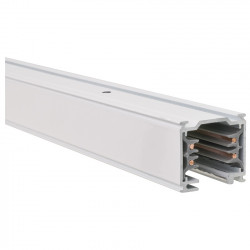 Aufbau - Stromschiene 1000mm   110V - 415V   Weiß   3 Phasen   Hochvolt    Schienensystem Schiene Strahler Stromschienenstrahler Spot Lampe Leuchte