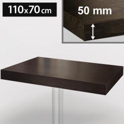 Bistro Tischplatte | 110x70cm | Wenge | Holz  | Gastro Restaurant Holzplatte Tisch Gastronomie Stehtisch Möbel