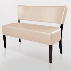 LUCA Bistro Sitzbank 1,2m   Leder   Creme    Gastro Bank Lounge Stuhl Polster