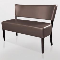 LUCA Bistro Sitzbank 1,2m   Leder   Taupe    Gastro Bank Lounge Stuhl Polster