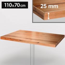 ITALIA Bistro Tischplatte | 110x70cm | Eiche | Holz | Gastro Restaurant Holztischplatte Tisch Gastronomie Stehtisch Möbel