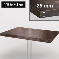 ITALIA Bistro Tischplatte | 110x70cm | Wenge | Holz | Gastro Restaurant Holztischplatte Tisch Gastronomie Stehtisch Möbel