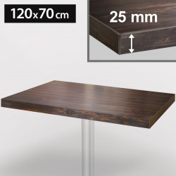 ITALIA Bistro Tischplatte | 120x70cm | Wenge | Holz | Gastro Restaurant Holztischplatte Tisch Gastronomie Stehtisch Möbel