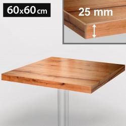 ITALIA Bistro Tischplatte | 60x60cm | Eiche | Holz | Gastro Restaurant Holztischplatte Tisch Gastronomie Stehtisch Möbel