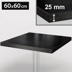 ITALIA Bistro Tischplatte | 60x60cm | Schwarz | Holz | Gastro Restaurant Holztischplatte Tisch Gastronomie Stehtisch Möbel