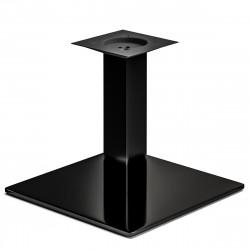 MADRID | Bistro Lounge Tisch Gestell | 45x45cm | 8x36cm | Schwarz  | Fuß Bein Säule Quadratisch