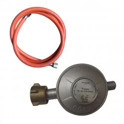 ABBEY Gas Druckregler 50mbar | +1,4m Gasschlauch  | Gasregler Druckminderer Propan Heizstrahler